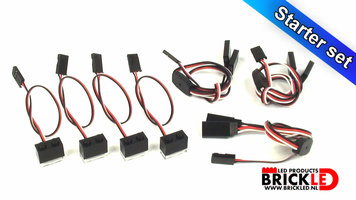 BrickLED Starter set met AA Batterij Blok