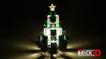 BrickLED 1 x Kerstboom - Wit warm - Verlichting voor LEGO