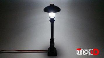 BrickLED 2 x Lantaarn Klassiek zwart - Wit koud