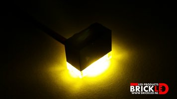 BrickLED 3 x Standaard lampje - Geel - Verlichting voor LEGO