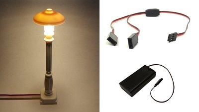 BrickLED Starter set Lantaarn Wit Klassiek - Wit warm + AA Batterij Blok - Verlichting voor LEGO