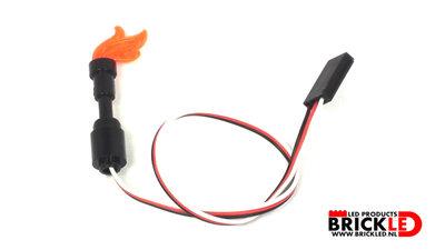 BrickLED 2 x Fakkel - Oranje - Verlichting voor LEGO