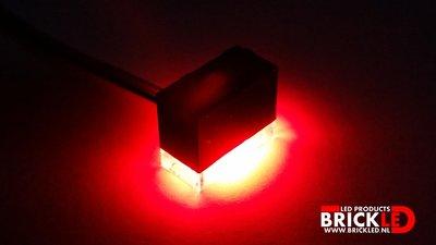 BrickLED 3 x Standaard lampje - Rood