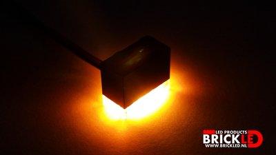 BrickLED 3 x Standaard lampje - Oranje
